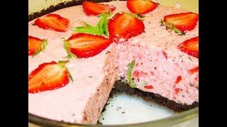 Восхитительный клубничный торт без выпечки. Вам понравится!