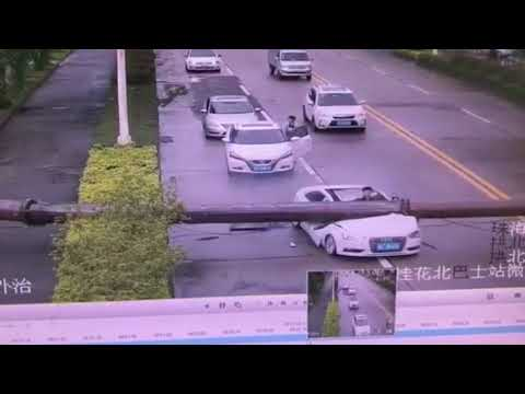 Man Miraculously Survives After Car Hit By Falling Crane