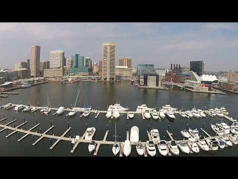 Baltimore inner harbor drone
