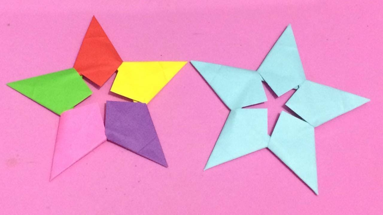 How to make origami star with color paper diy paper for Diy colored paper