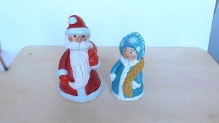 Уроки рисования. Лепим Деда Мороза из глины Polymer clay | Art School