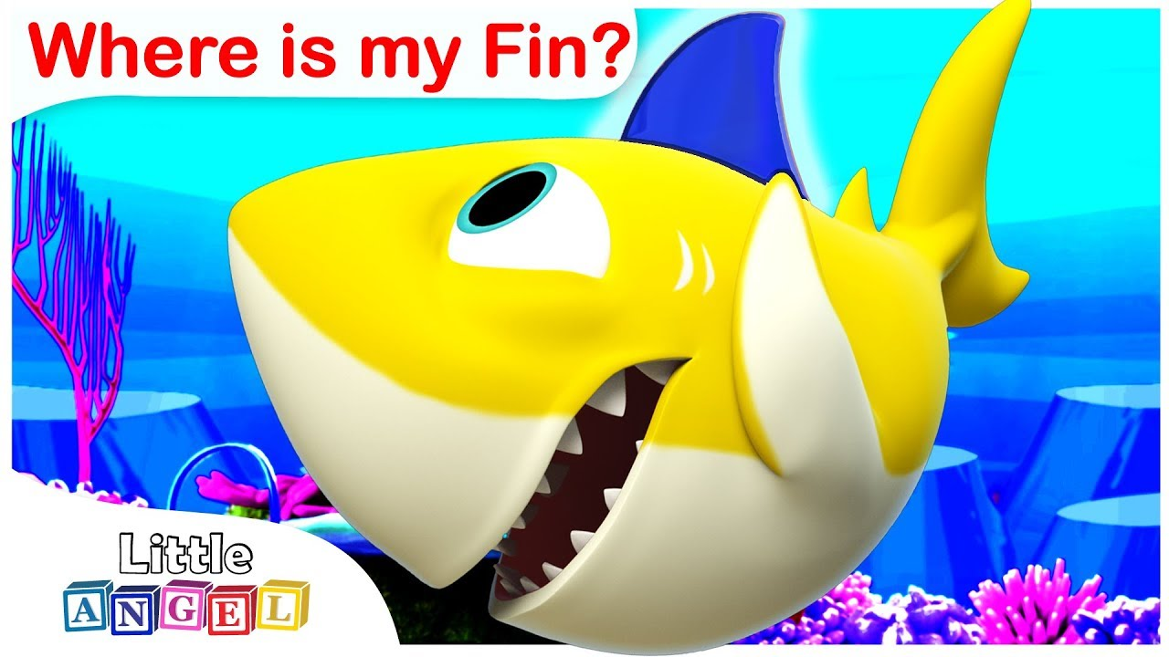 Where Is My Fin? BABY SHARK | Kids Songs and Nursery Rhymes by Little Angel