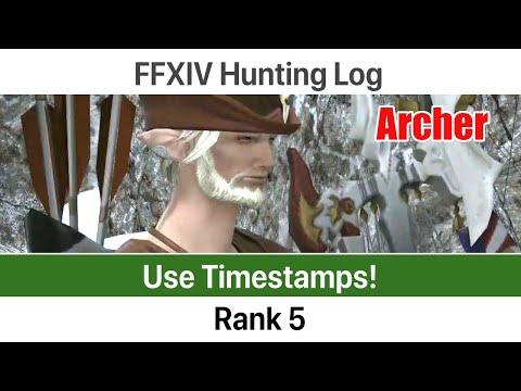 FFXIV Hunting Log Archer Rank 5 - A Realm Reborn