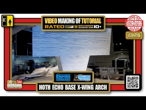 Making Of Echo Base X Wing Arch Diorama Section Youtube