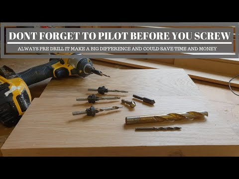 Dont overlook to pilot.. woodworking fundamentals