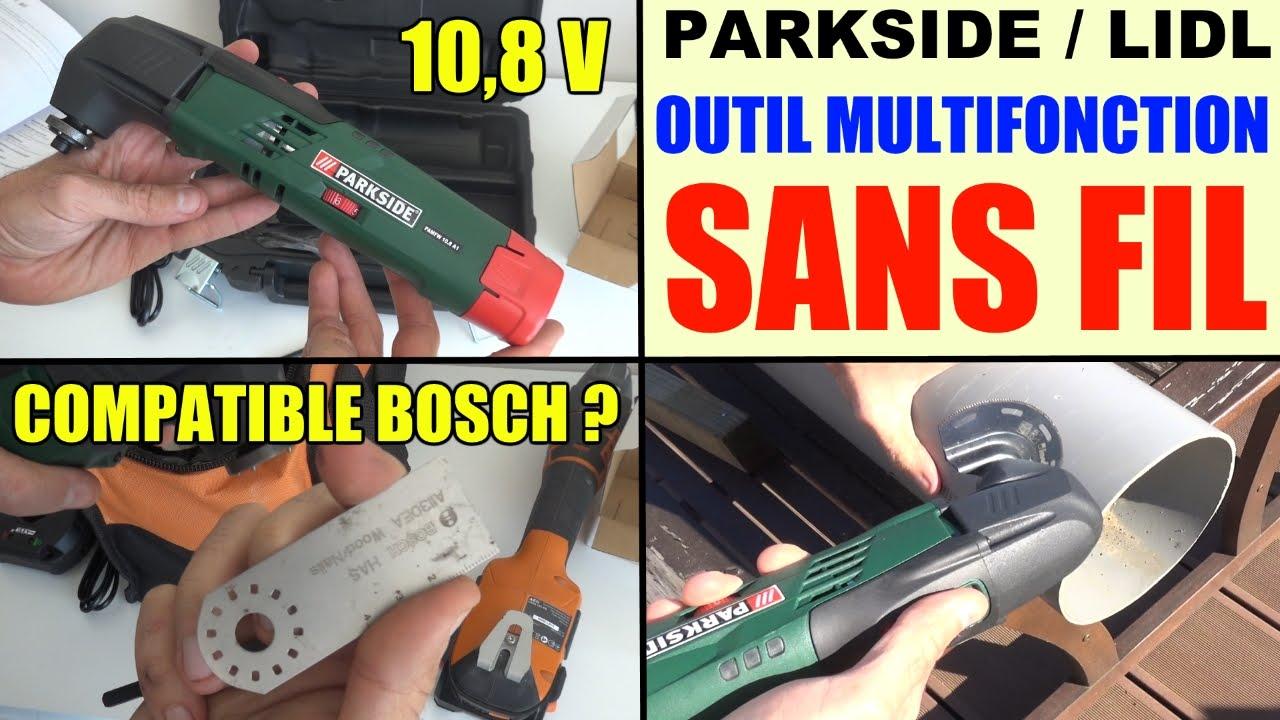 outil multifonction sans fil parkside pamfw 10 8 v lidl cordless multi purpose tool test avis prix
