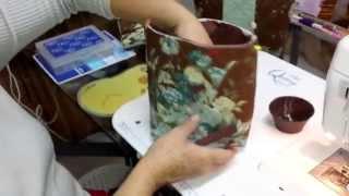 Colocação de zíper com viés