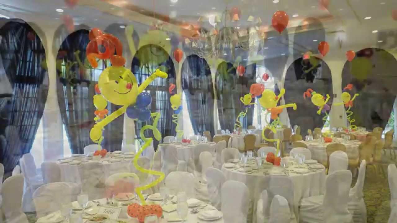 Circus theme balloon centerpieces dreamark events