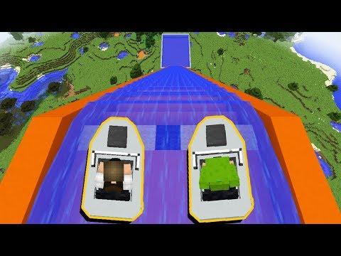 Minecraft: DESCEMOS DE LANCHA O MAIOR TOBOÁGUA DO MUNDO! thumbnail
