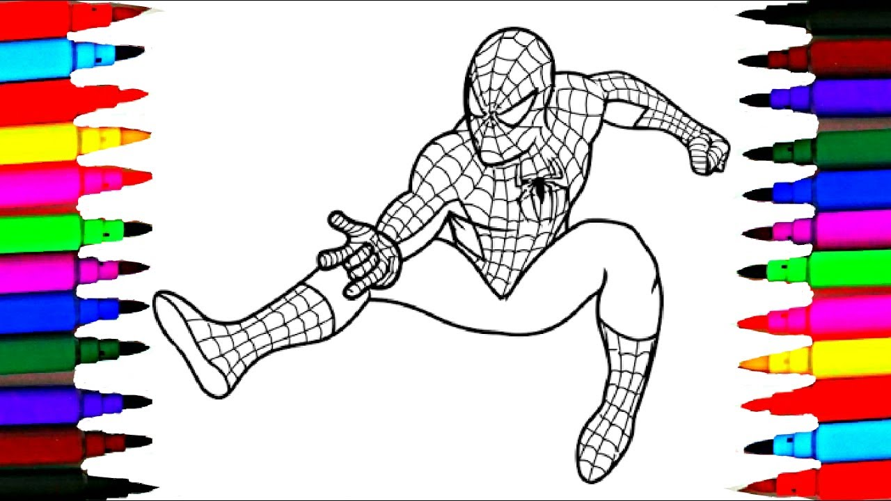 barbie and spiderman coloring pages l how to color barbie coloring