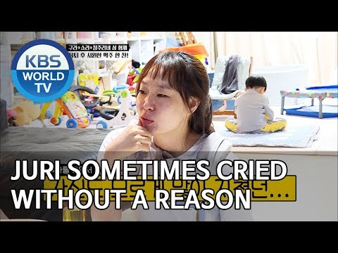 Juri sometimes cried without a reason [Trio's Childcare Challenge/ENG/2019.10.23]