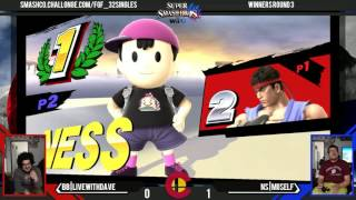 FGF32 - BBB|LiveWithDave (Ryu) Vs. NS|Miiself (Ness) - WR3