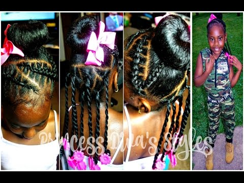 Little Girls Cute Hairstyle 4a Natural Kids Hair Youtube