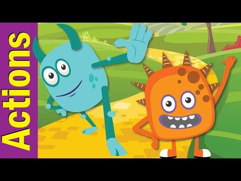 Stand Up, Sit Down  Actions Songs for Children  Kindergarten, Preschool & ESL  Fun Kids English