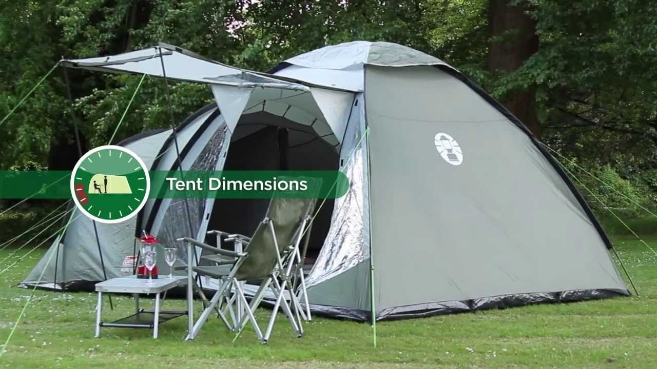 Coleman® Waterfall 5 Deluxe - Tunnel u0026 Dome Tent for Family C&ing - YouTube & Coleman® Waterfall 5 Deluxe - Tunnel u0026 Dome Tent for Family ...