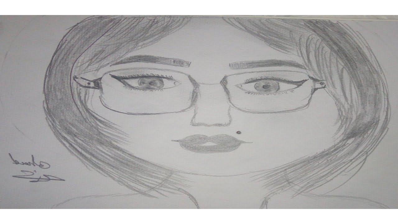 رسم وجه بنت كيوت بالرصاص تعليم الرسم للمبتدئين Youtube