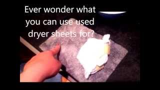 Use up those used dryer sheets!