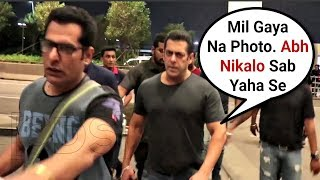 Salman Khan Gets Angry On Media At Airport