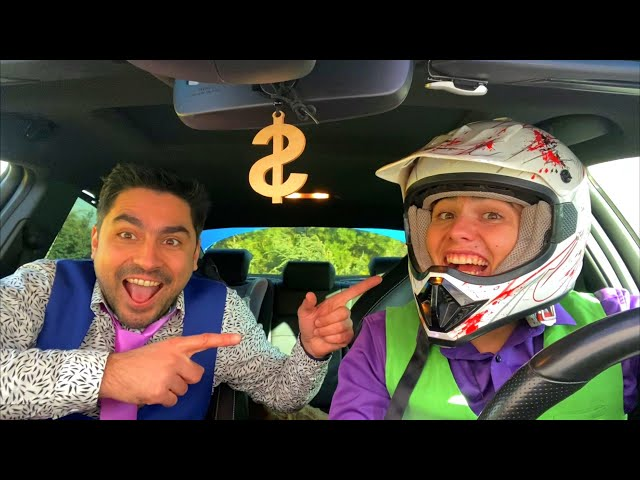 Mr. Joe on Hover PUT LARGE LIVE SPIDER on HOOD of Sports Car & Mr. Joker on Opel BLOCKED ROAD 13+