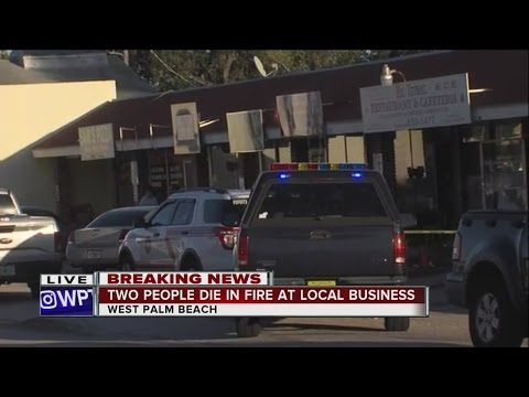 Two people die in West Palm Beach fire
