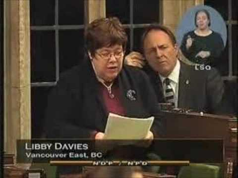 NDP: Libby Davies on Lobbyists 2