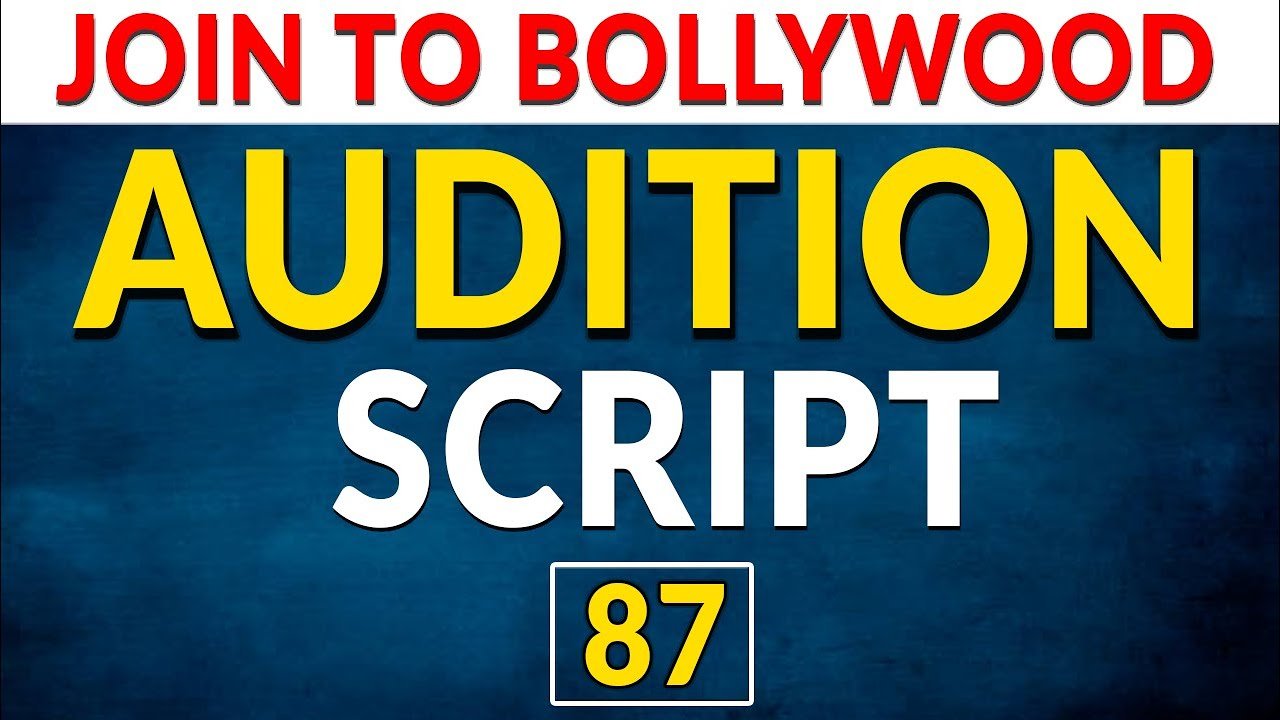 Acting Monologues For Auditions | Acting Monologue Practice | Audition Script | Join To Bollywood
