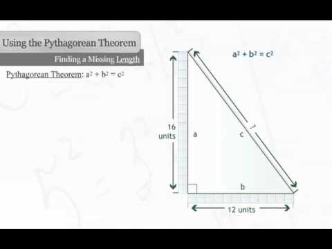 Find the Missing Length of a Right Triangle