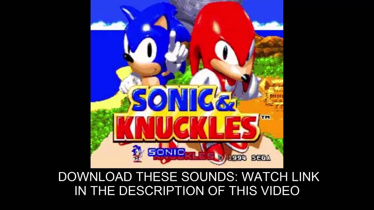 Sonic 3 & Knuckles sound effects free download -sfx