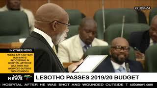 vuclip Lesotho passes 2019/20 Budget
