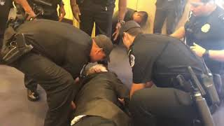 """U.S Police State: Brutalizing an """"Old Man"""" Protesting CIA Rendition and Torture"""