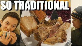 Traditional Norwegian Food - Crispy Pork + Salty Lamb! NORWAY TRAVEL