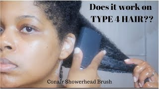 *NEW* CONAIR INFINITI PRO HYDRO-DETANGLER and SHOWERHEAD | REVIEW| FIRST IMPRESSIONS | 4C/4B HAIR