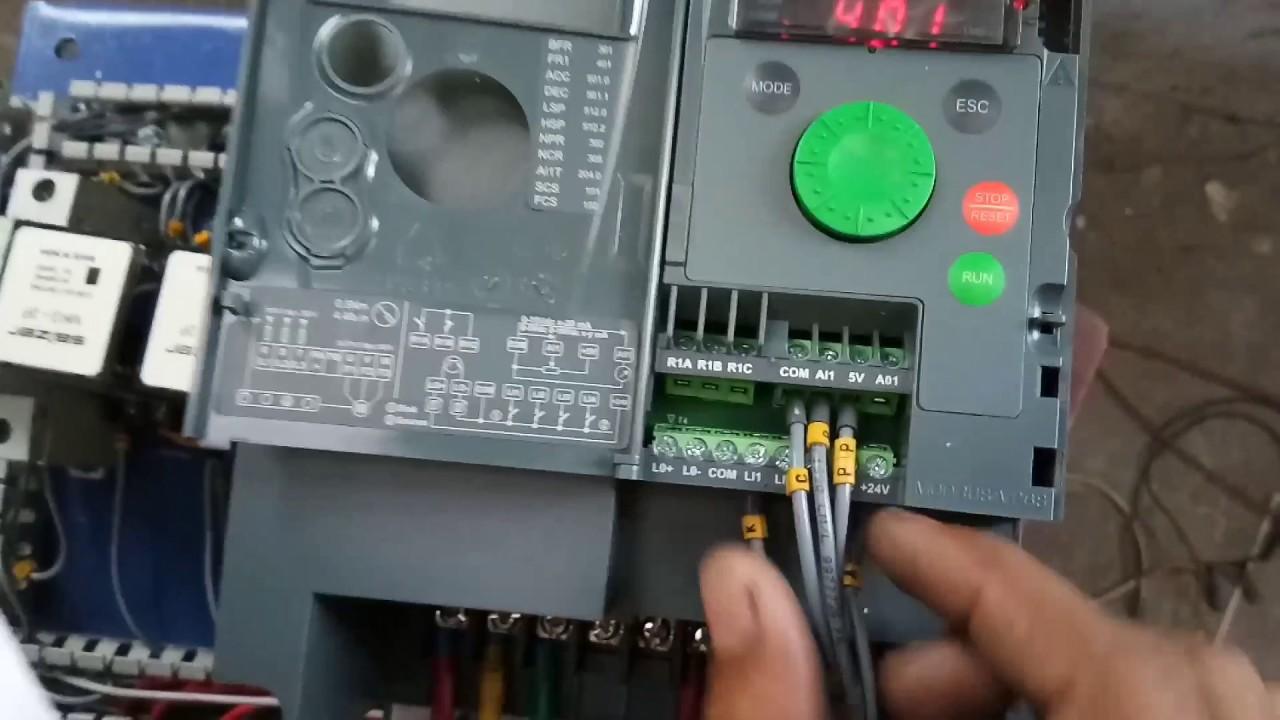 Schneider drive programing | programing | electrical