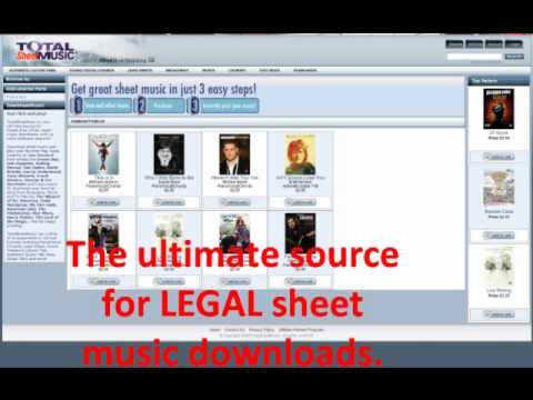 Download quality music sheets legally.