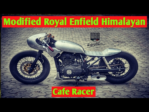 India's First Modified Royal Enfield Himalayan into Cafe Racer!