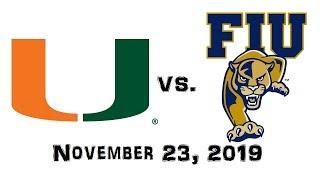 November 23, 2019 - Miami Hurricanes vs. FIU Panthers Full Football Game