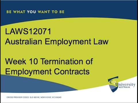 Terminating an Employment Contract