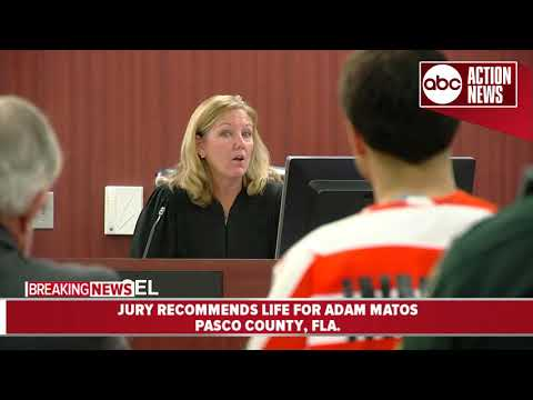 Judge sentences Adam Matos to life in prison