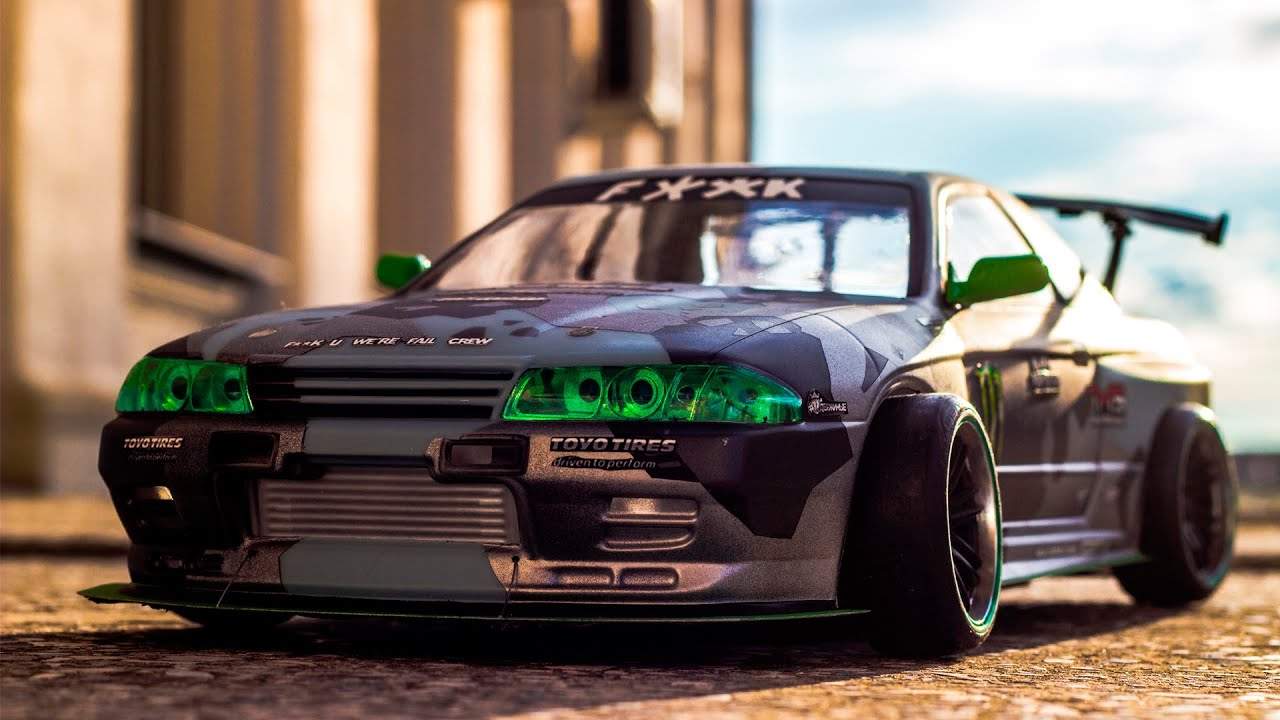 Badass Rc Drift Car Nissan Skyline Gt R Youtube