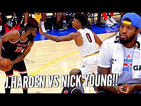 James Harden 45 POINTS vs NICK YOUNG 34 Pts!! BATTLE OF THE SUMMER! JaVale vs Marvin Bagley Too!!