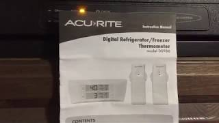 Acurite #00986 Digital Thermometer With 2 Temp Sensors For Fridge & Freezer (travel Trailer)
