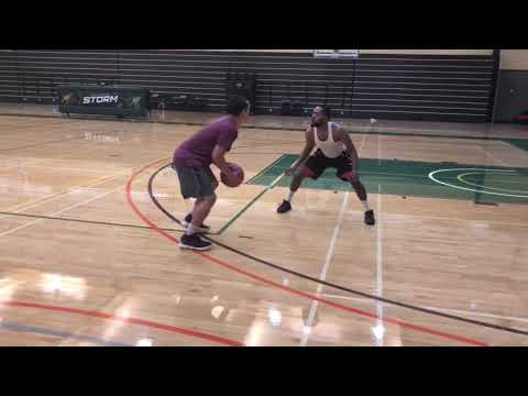 Napa Valley College Players Compete During One on One Drill