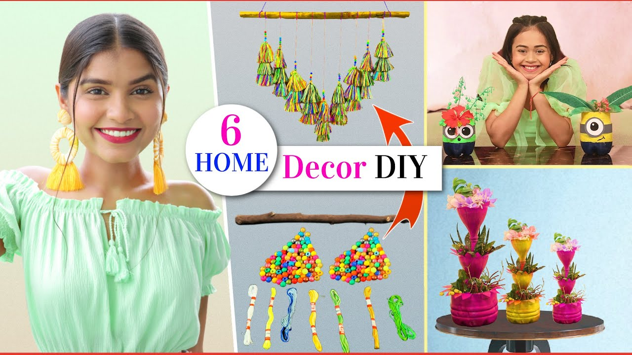 6 Beautiful HOME DECOR From Waste Material | Easy DIY Projects | DIY Queen