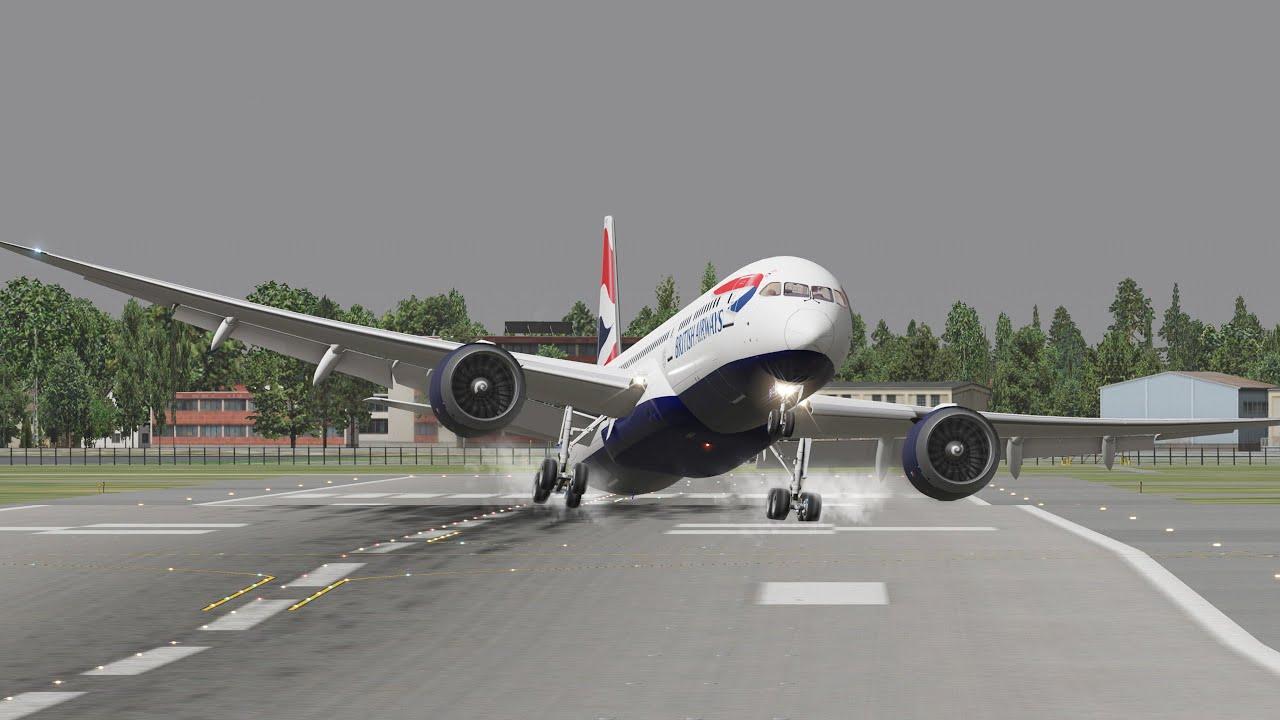 Boeing 747, 787, 777, MD 82  Turbulent Touchdown | Xplane 11