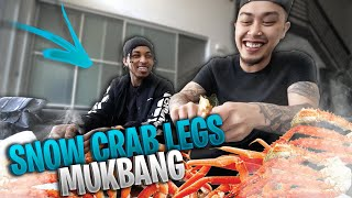 HOW DID WE BECOME FRIENDS?? | SNOW CRAB LEGS MUKBANG Ft @The DDG Family