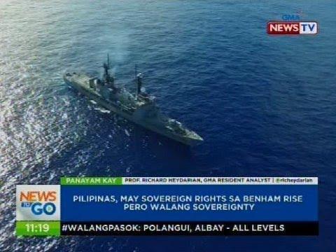 Pilipinas, may sovereign rights sa Benham Rise pero walang sovereignty