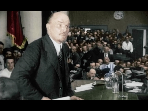 Vladimir Lenin, founder of USSR, Russian revolutionary, documentary footages (HD1080).