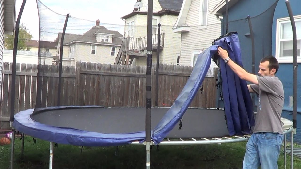 Disassembling a Trampoline