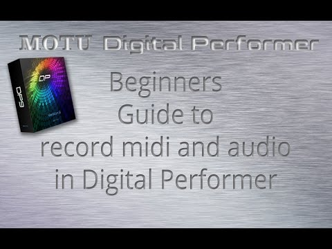 Recording midi for beginners using MOTU Digital Performer