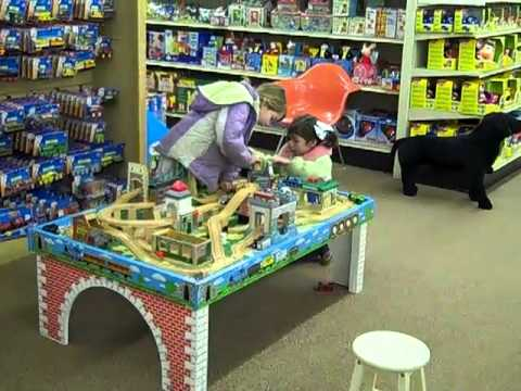 Kids at Thomas Train Table at Toy House - YouTube